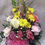 pink yellow vase $40