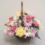 pinky girl basket